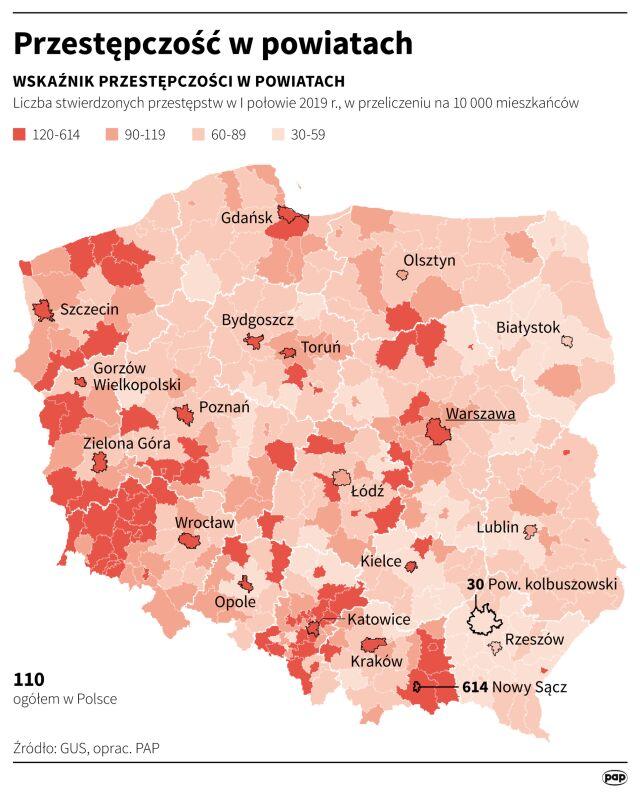 Рейтинг самых опасных для жизни городов Польши